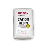 Cation Resin, 8%, Gold, 1 Cu Ft Bag